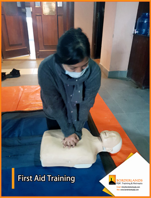 First Aid training for Nepal red cross
